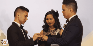 Same Sex Wedding Ceremony at the Terra Gallery