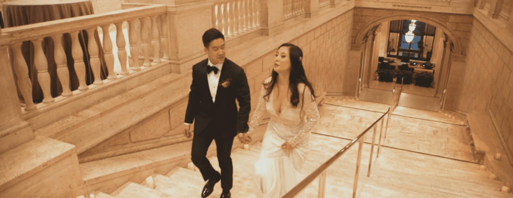 Asian art museum wedding videographer