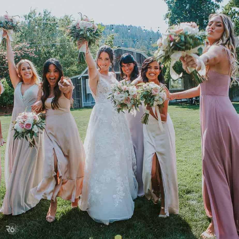 wedding videographer and my fun bridesmaids